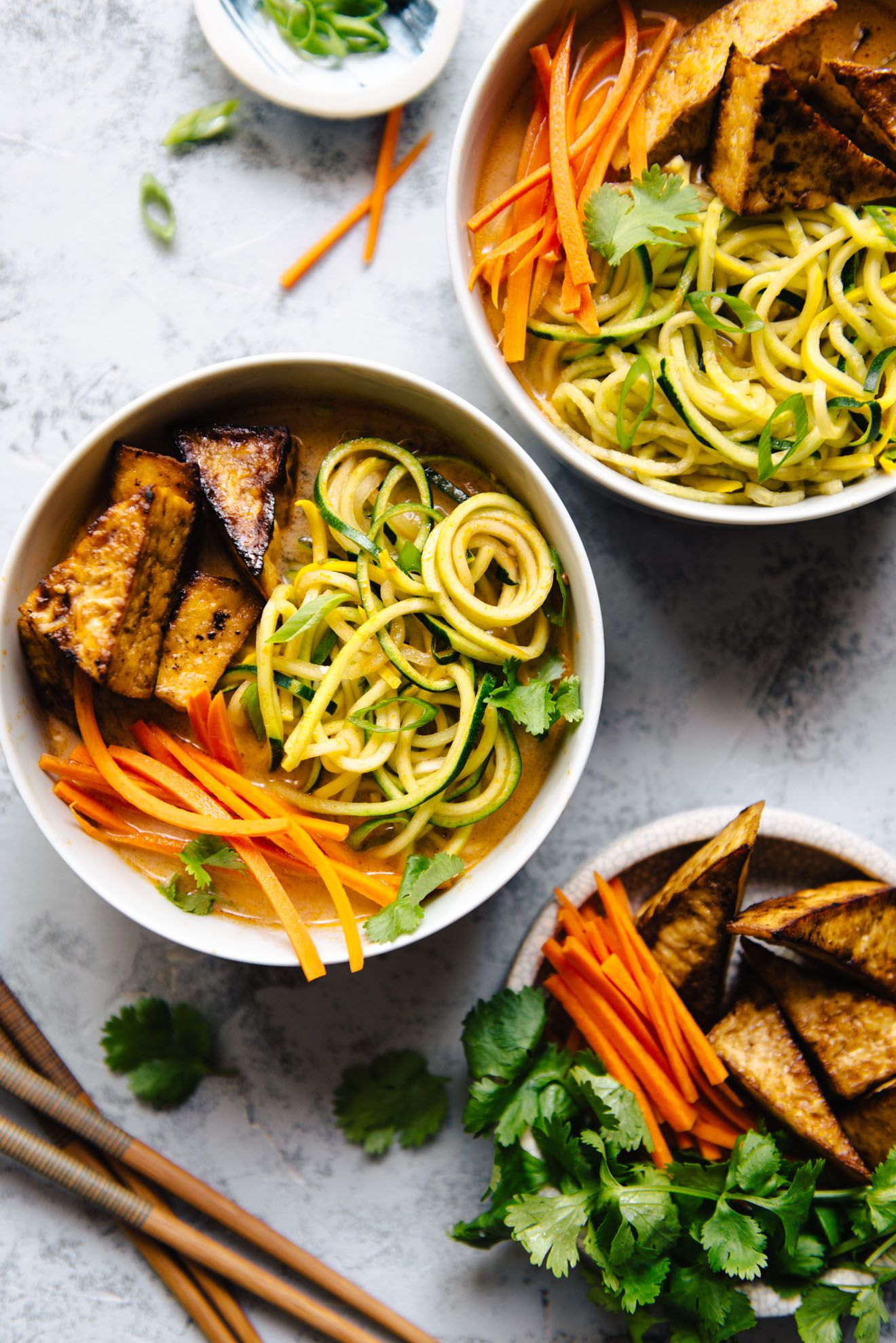 Zucchini Noodles With Tomato Coconut Broth