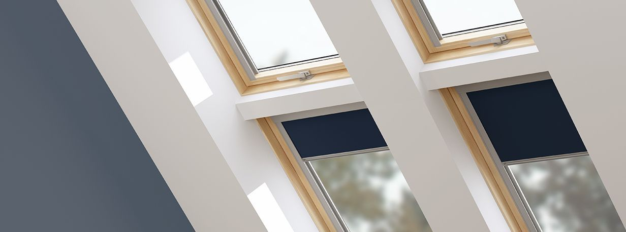 Duratech Roof Windows Navy Blackout Blinds Have A Multifit Function That Allows Them To Be Fitted To Velux Roof Window Blinds For Windows Wooden Window Blinds