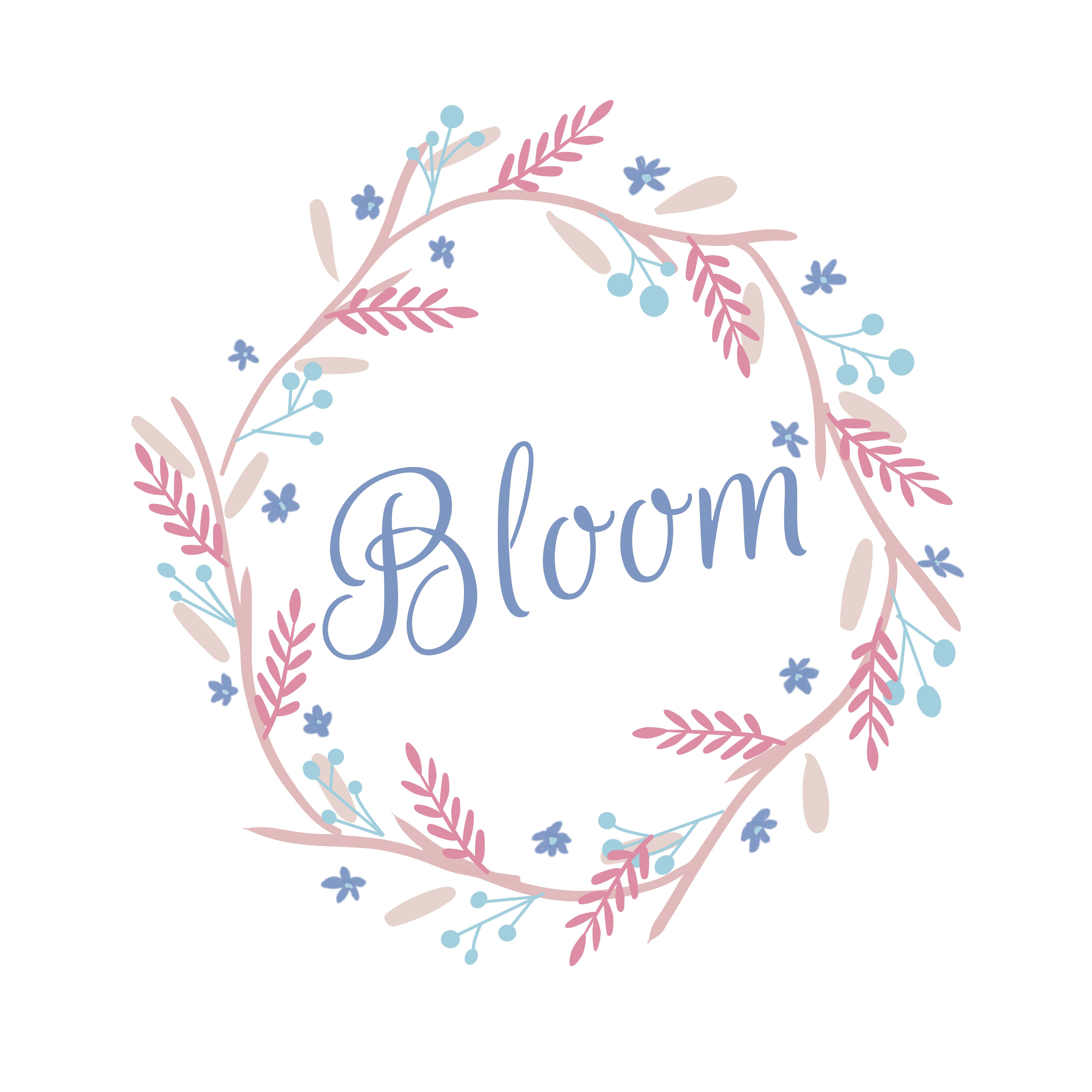 Photo of Bloom Wreath Illustration