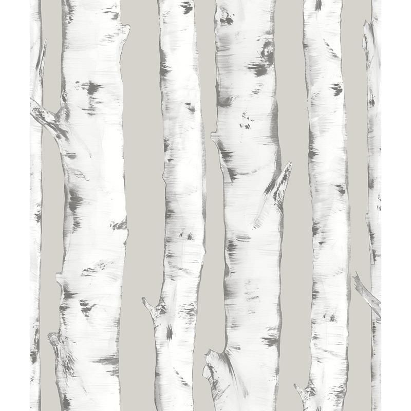 Nhs3196 Downy Birch Trees Peel And Stick Wallpaper Wallpaper Roll Peel And Stick Wallpaper Vinyl Wallpaper