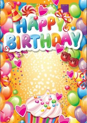 Bunte Geburtstags Kinder Postkarte Happy Birthday Alles Gute Zum