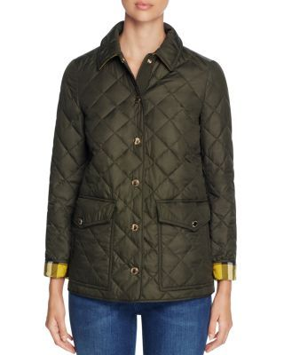 Burberry 100 Exclusive In Military Green Modesens Quilted Jacket Burberry Quilted Jacket Jackets