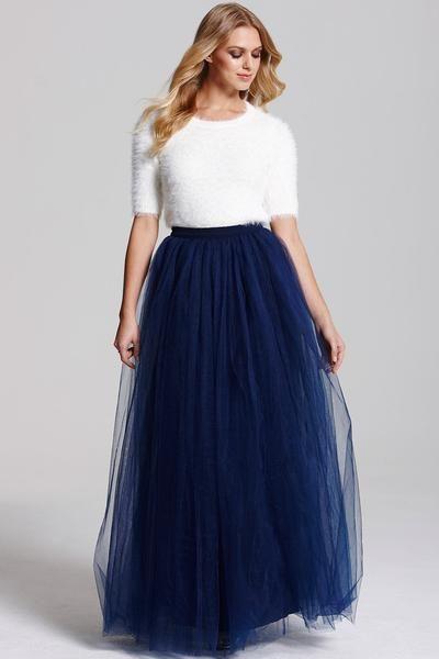 FUSTA TULLE FIN MAXI (clos) | Tulle wedding skirt, Tulle maxi skirt, Black tulle