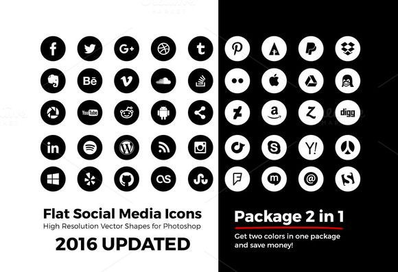 Simple Social Media Icons Circle Pck By Caiocall On Creative Market