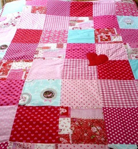 Quilts & patchwork - Vrolijke quilt - Een uniek product van Tuttebel op DaWanda