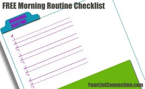 FREE Morning Routine Checklist