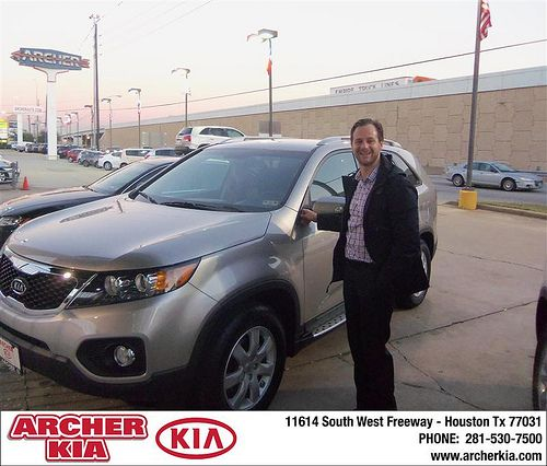 Congratulations Robert Kamperin to on the 2013 Kia Sorento