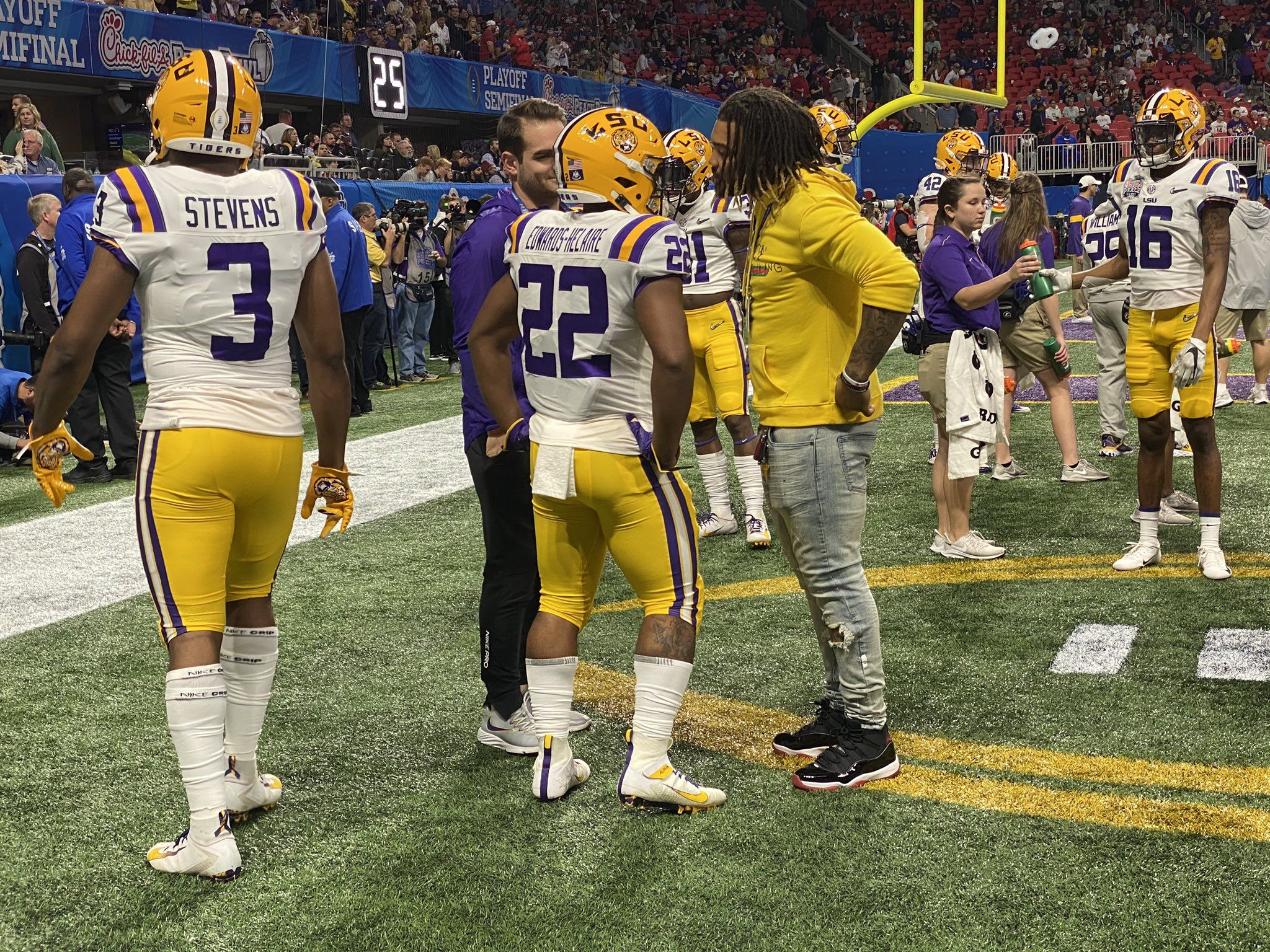Hester & Guice & Clyde before 2019 OU Playoff Game