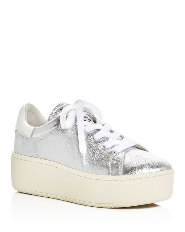 Ash Cult Metallic Lace Up Platform Sneakers