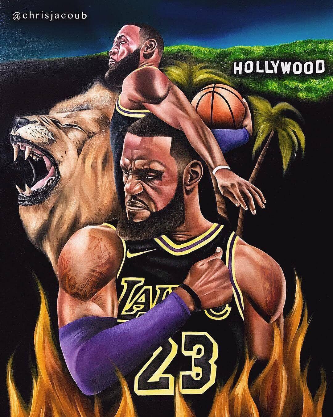 Lebron desktop wallpaper: Lebron James Cartoon Wallpaper