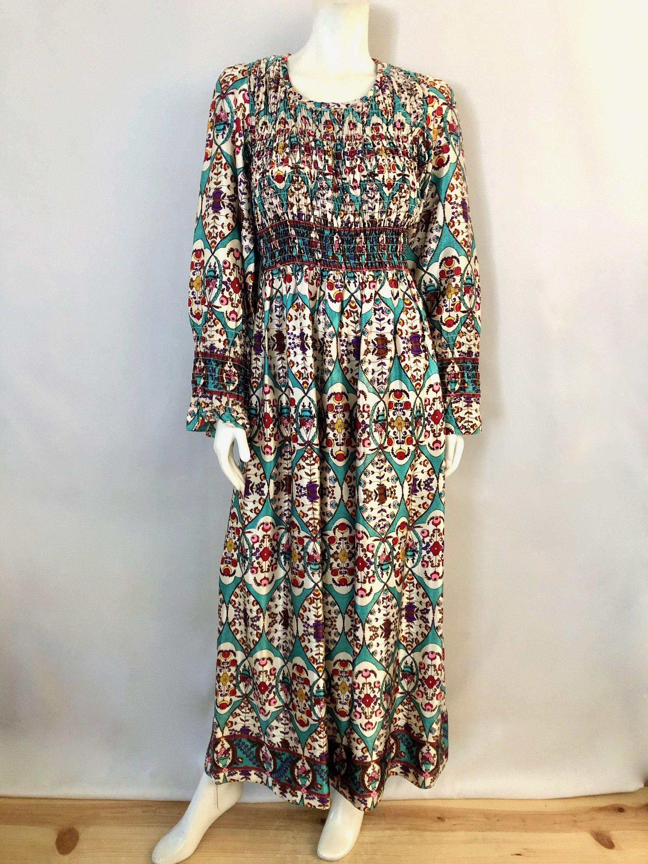 Vintage Women S 70 S Mindy Malone Long Sleeve Maxi Etsy Vintage Ladies Vintage Dresses Maxi Dress [ 3000 x 2250 Pixel ]