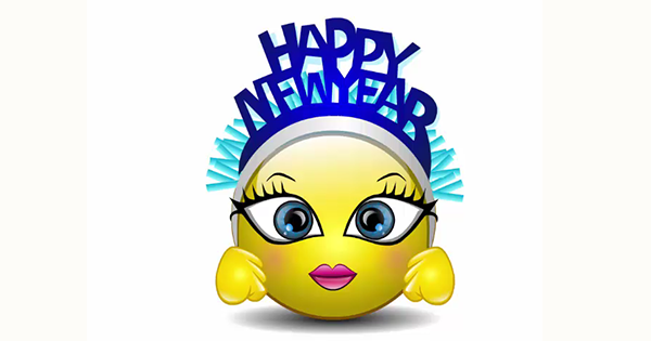 Happy New Year Talking Smiley Happy New Year Emoji Happy New Year Animation Happy New Year