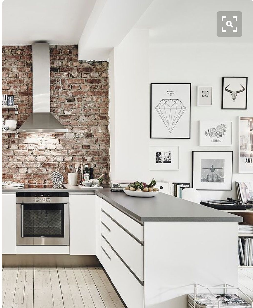 Kitchen Selection With A Minimalist Design Using Bricks Is A Lot Popular  Today. Exposed Brick Walls Can Give Amazing Feel And Rustic Impression To  Any Room ...