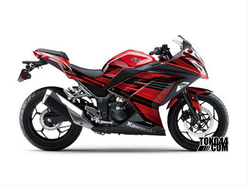 decal sticker ninja 250 fi merah – stiker modifikasi kawasaki