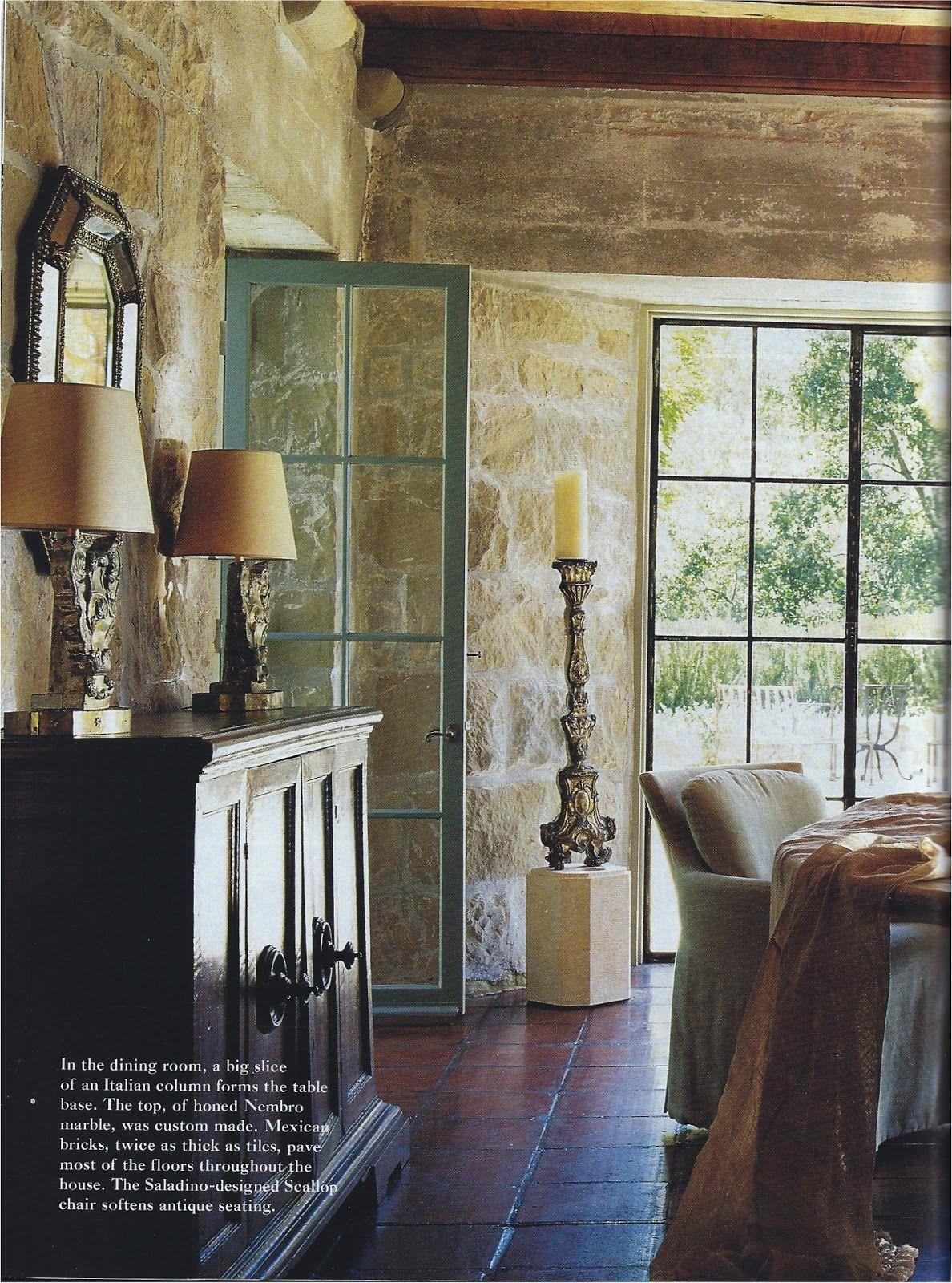 John Saladino Santa Barbara Love The Cool Stone The Warm Tile