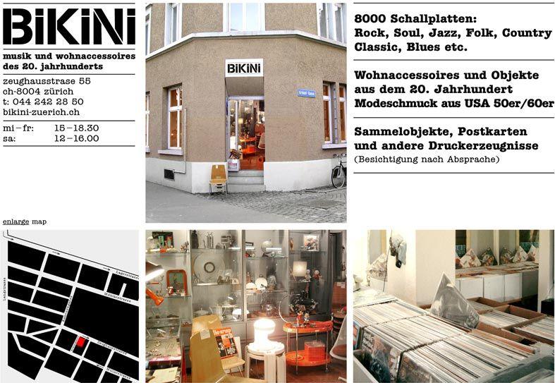 Bikini Zeughausstrasse 55 8004 Zurich Music Vinyl