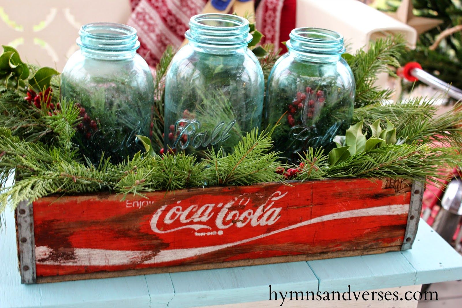 2014 Christmas On The Back Porch Hymns And Verses Christmas Arrangements Christmas Centerpieces Country Christmas