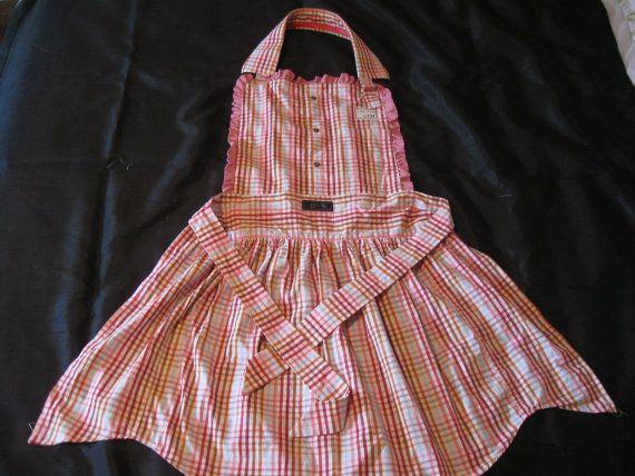 Full length apron UpCycled by CM collection by ConfectionsMeliBee, $35.00