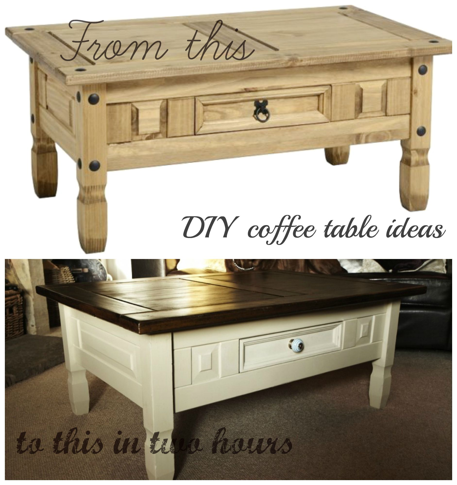 Really easy DIY Coffee Table Ideas Find out how here