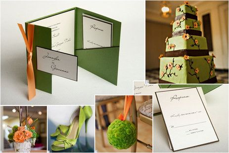 orange and green wedding theme - Google Search