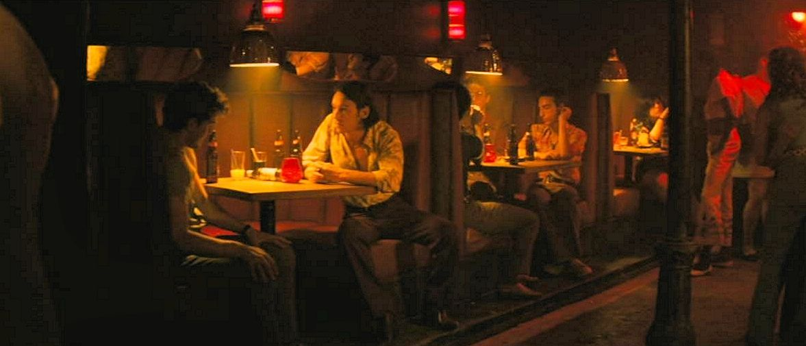 """""""Stonewall"""" (2015): Danny and Trevor talk at the Stonewall bar as 'Whiter Shade of Pale' plays on the juke box."""