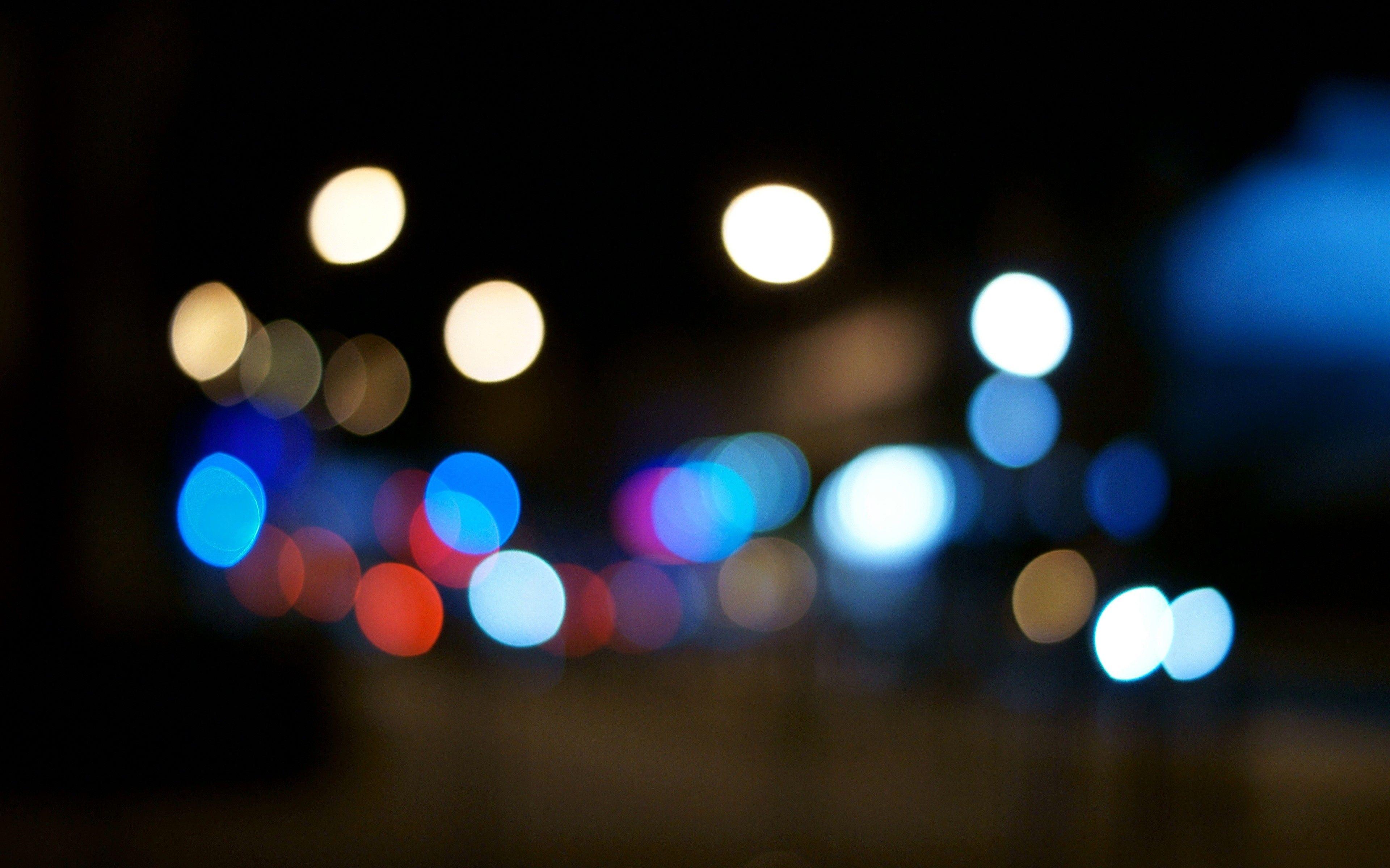 Night Bokeh Light Bulbs Orbs Out Of Focus