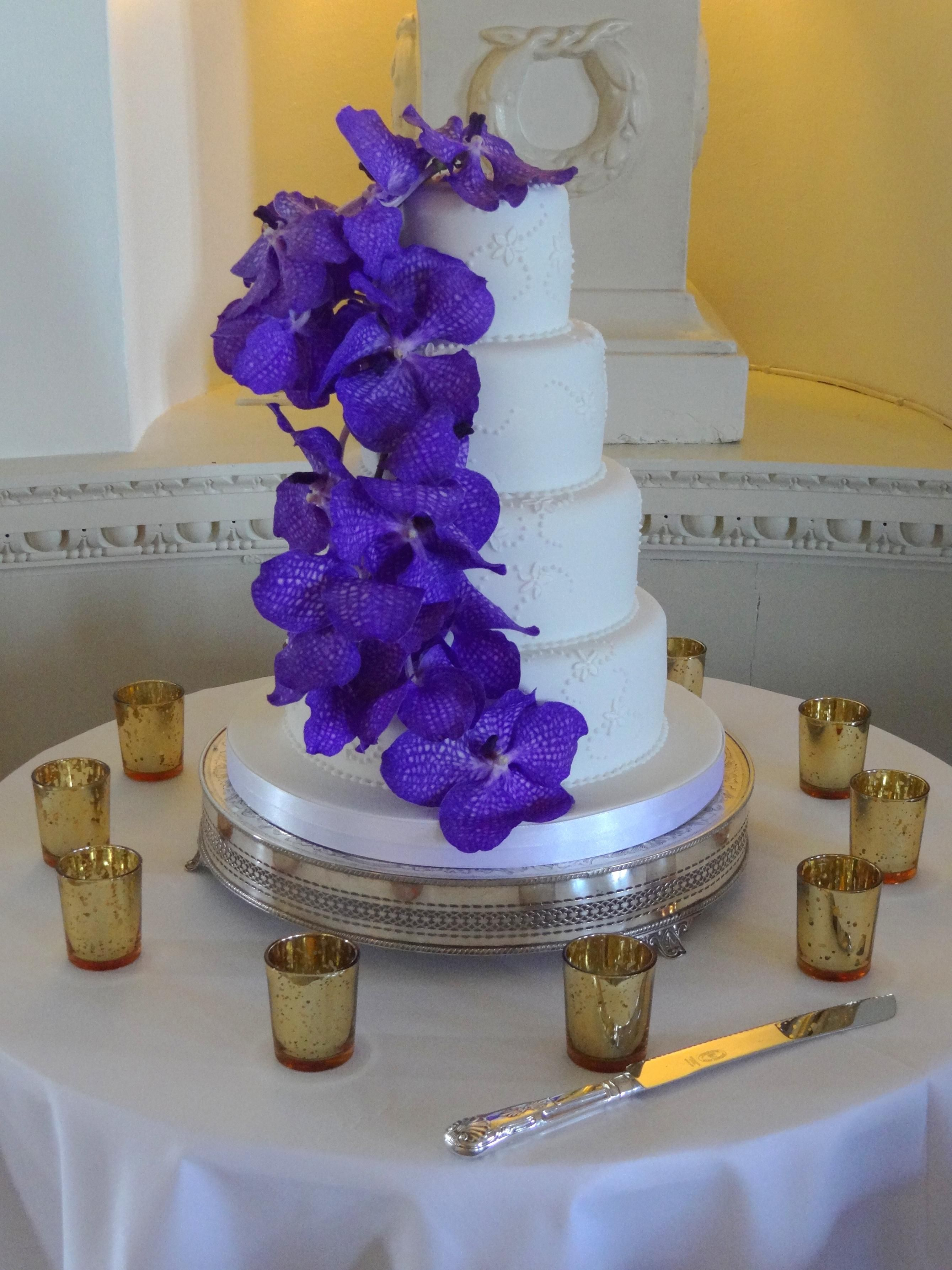 Wedding Cake Purple Orchids Designed Planned By