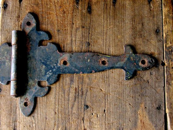 Genial Antique Strap Hinges Pair Vintage Gothic Style Iron By Veraviola, $100.00
