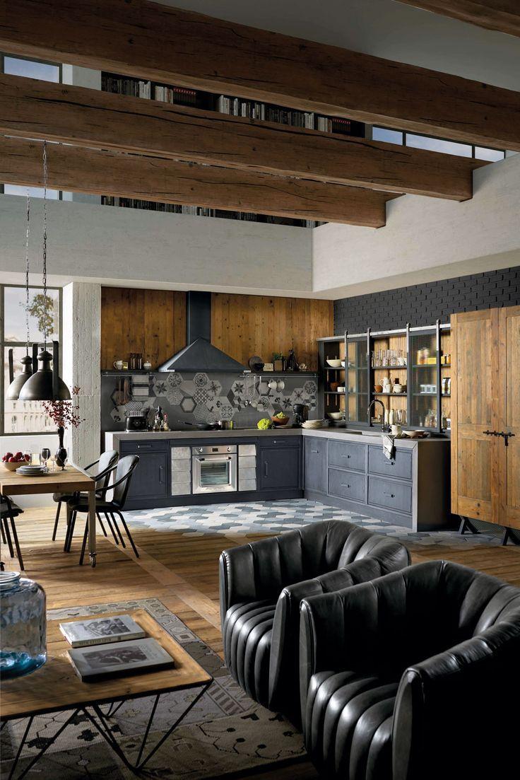 Risultati immagini per cucine acciaio e legno | Lakberendezés, bútor ...