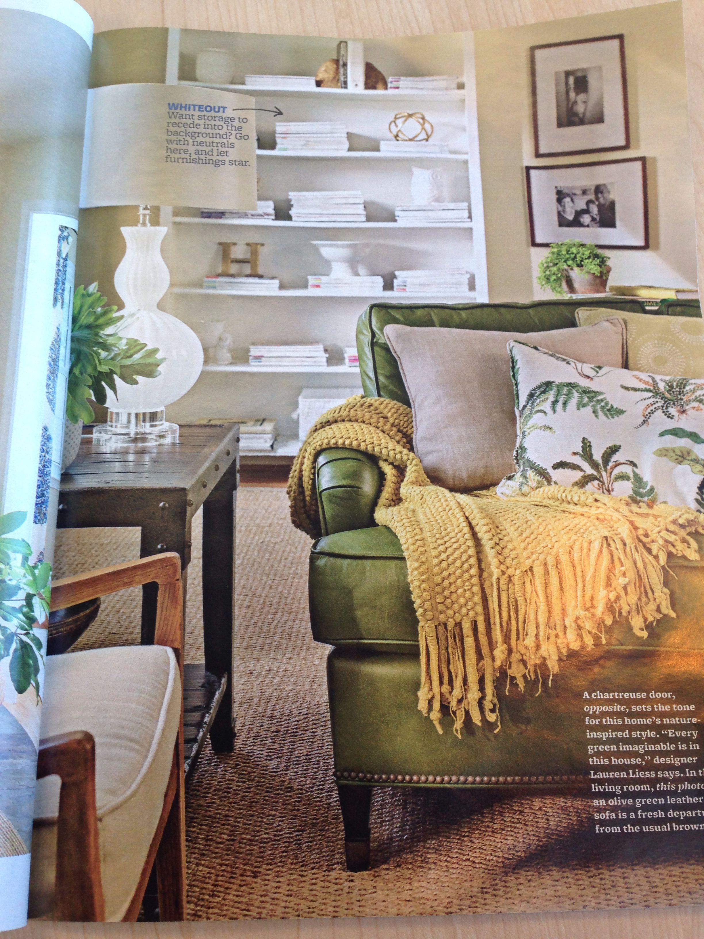 olive green leather sofa | olive green leather sofa | pinterest