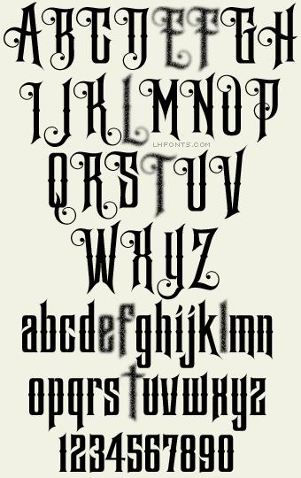 Letterhead Fonts Phantom Decorative