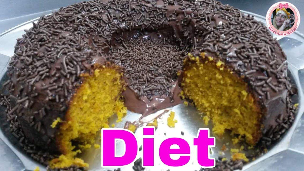 Bolo De Cenoura Diet Com Aveia Sem Farinha De Trigo Zero Gluten