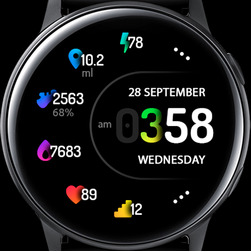 Samsung Galaxy Watch Faces Kd30 Cute Beautiful Colors Digital Watch Face Samsung Watches Watch Faces