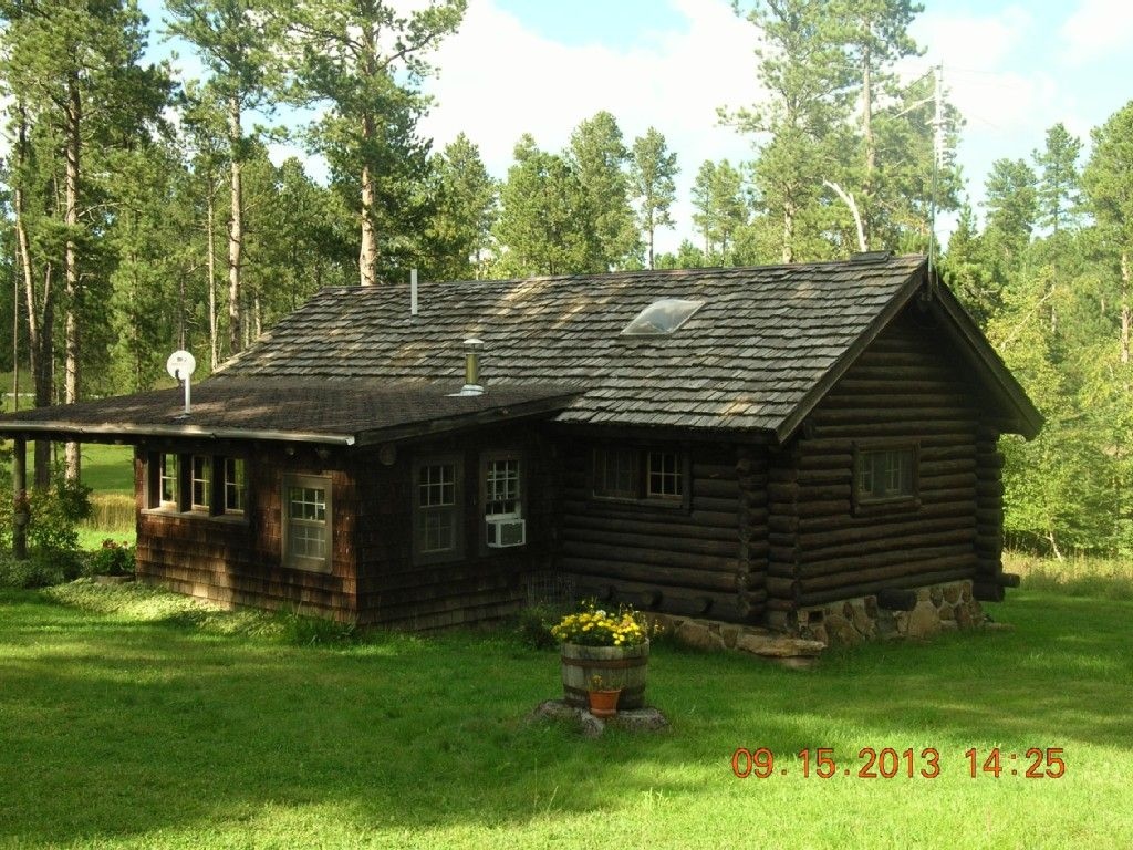 Sturgis Cabin Rental: Historic Black Hills Cabin In Vanocker Canyon On 5  Acres | HomeAway