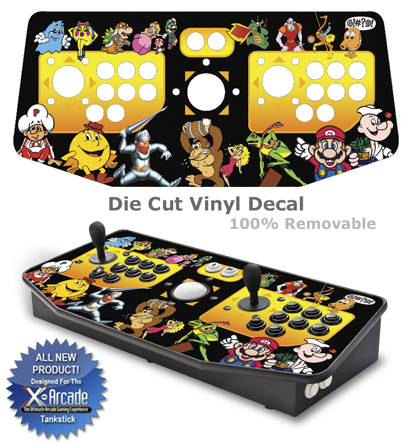 x arcade tankstick skins game room graphics mame cabinets