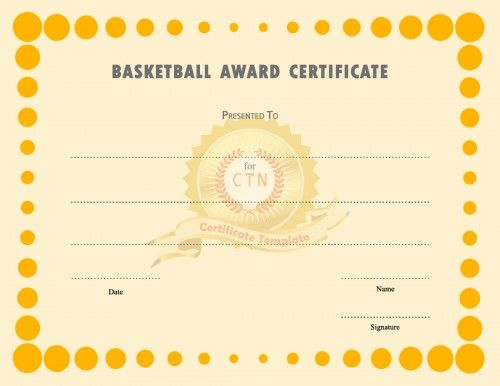 Basketball Award Certificate Templates Is A Sport Certificate To