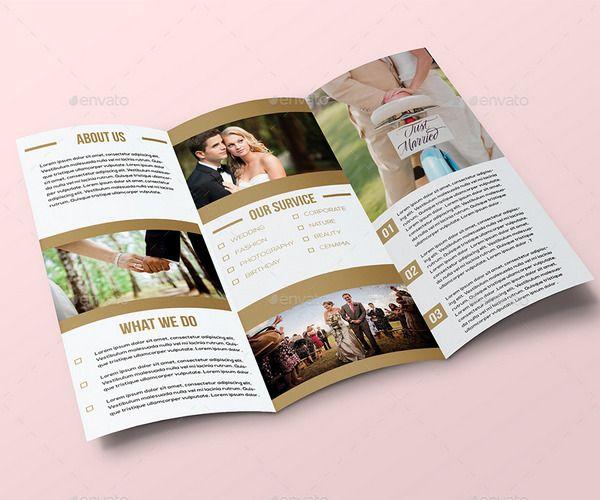 Image result for wedding tri fold trifold Wedding brochure