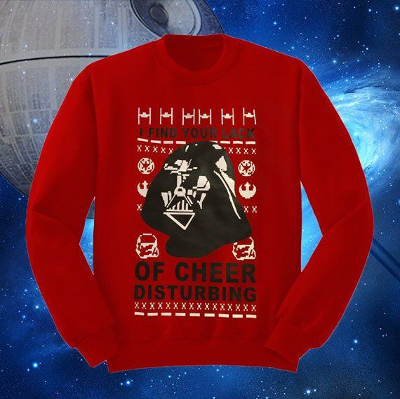 Star Wars Ugly Christmas Sweater I Find Your Lack Of Cheer