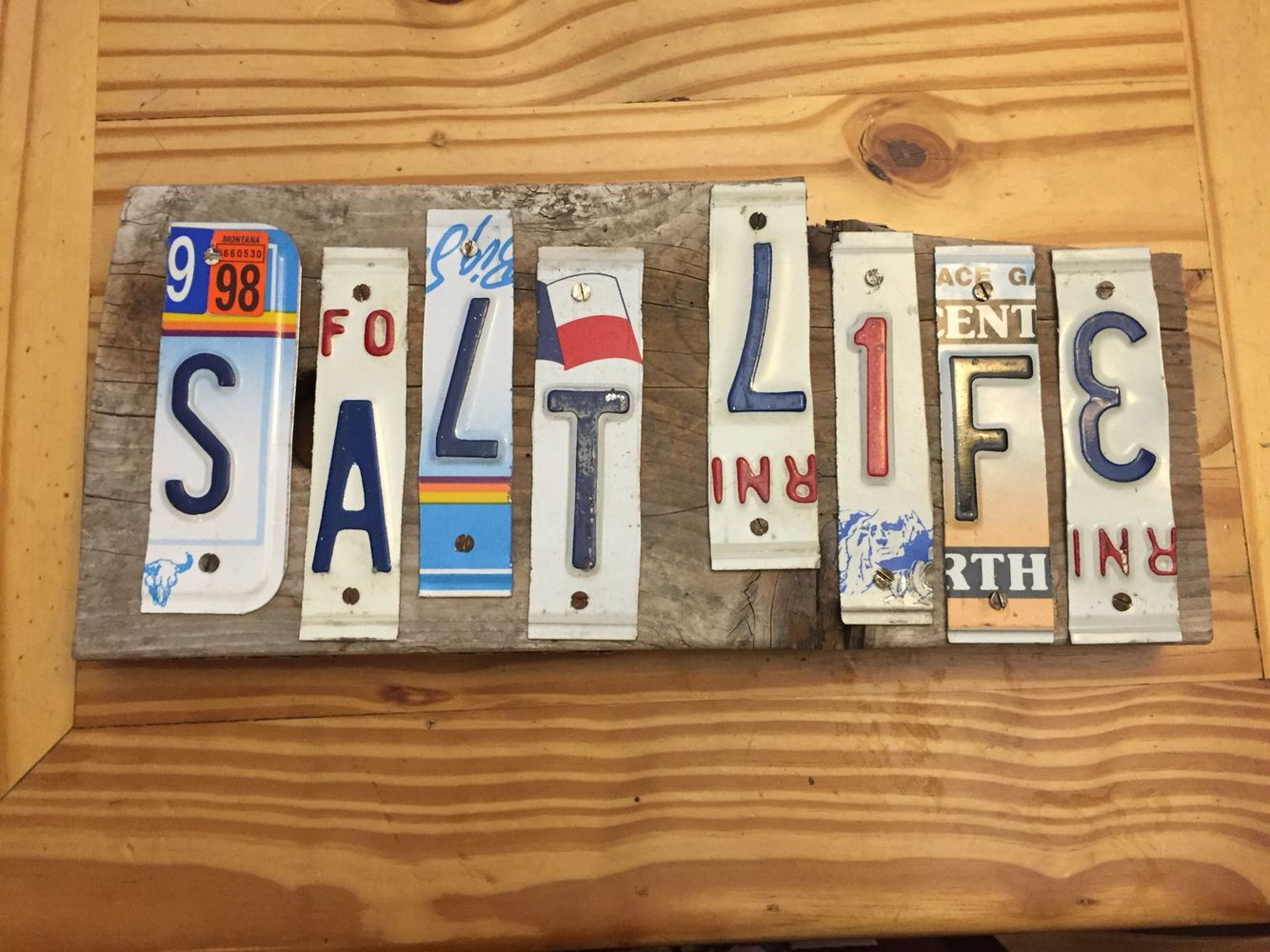 What a great way to express yourself salt life vintage license what a great way to express yourself salt life vintage license plate sign solutioingenieria Images