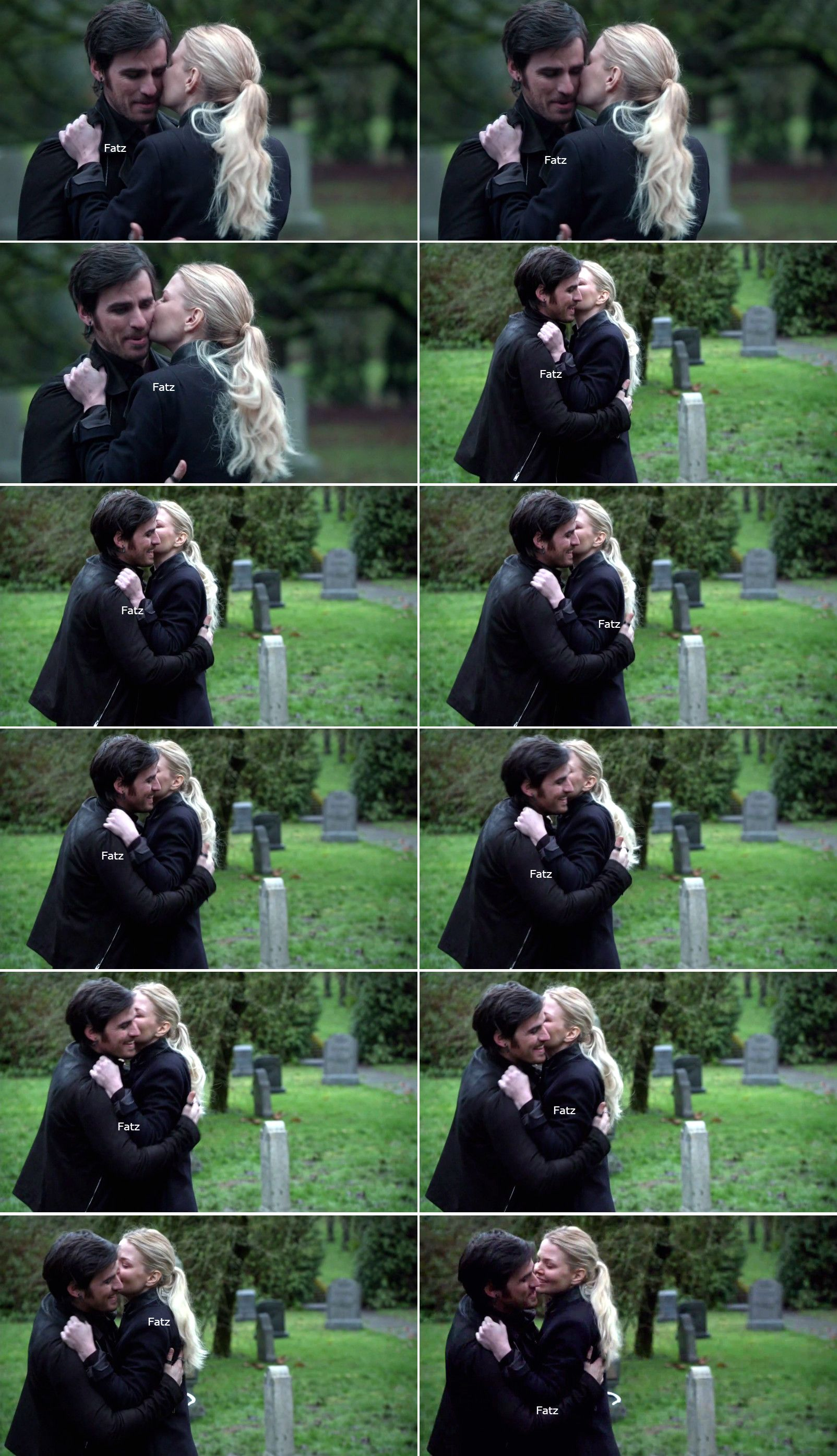 "Killian Jones and Emma Swan - 5 * 21 ""Last Rites"" #CaptainSwan ( Cheek Kisses from another angle)"