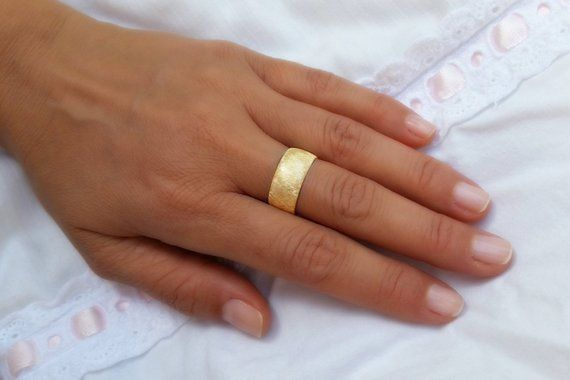 Wedding Band Wedding Bands Women Wide Wedding Band Yellow Etsy Yellow Gold Wedding Ring Yellow Gold Wedding Band Wide Wedding Bands