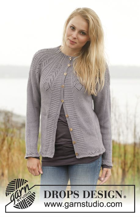lace knits summer knits knitted ladies clothes Hand knitted ladies lightweight cardigan with diamond lace patterned yoke
