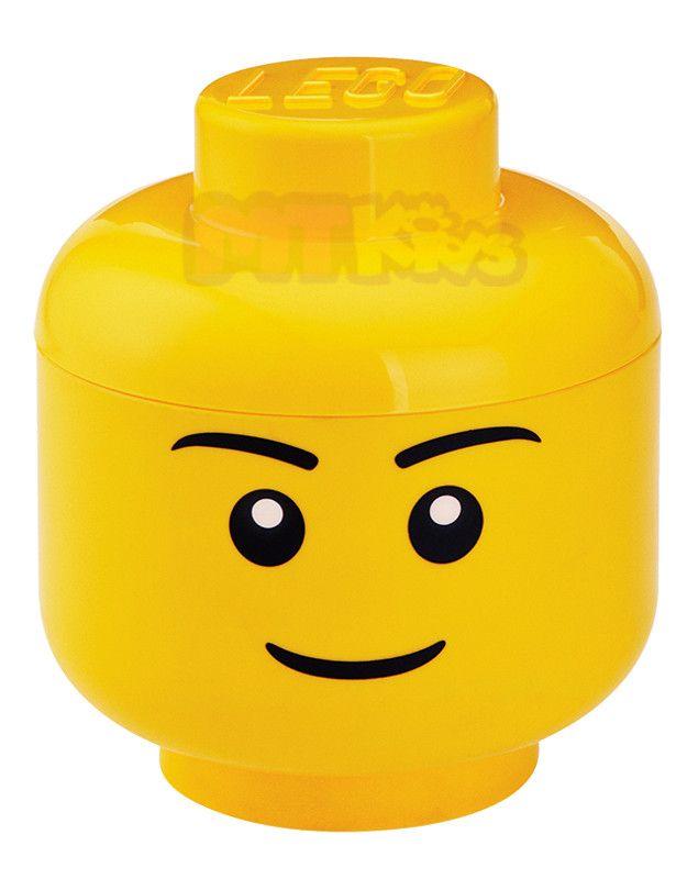 Lego Pojemnik Klocki Zabawki Pudelko Glowa S 19cm Lego Storage Lego Head Lego Room