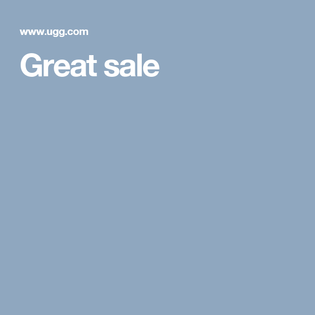 Great sale