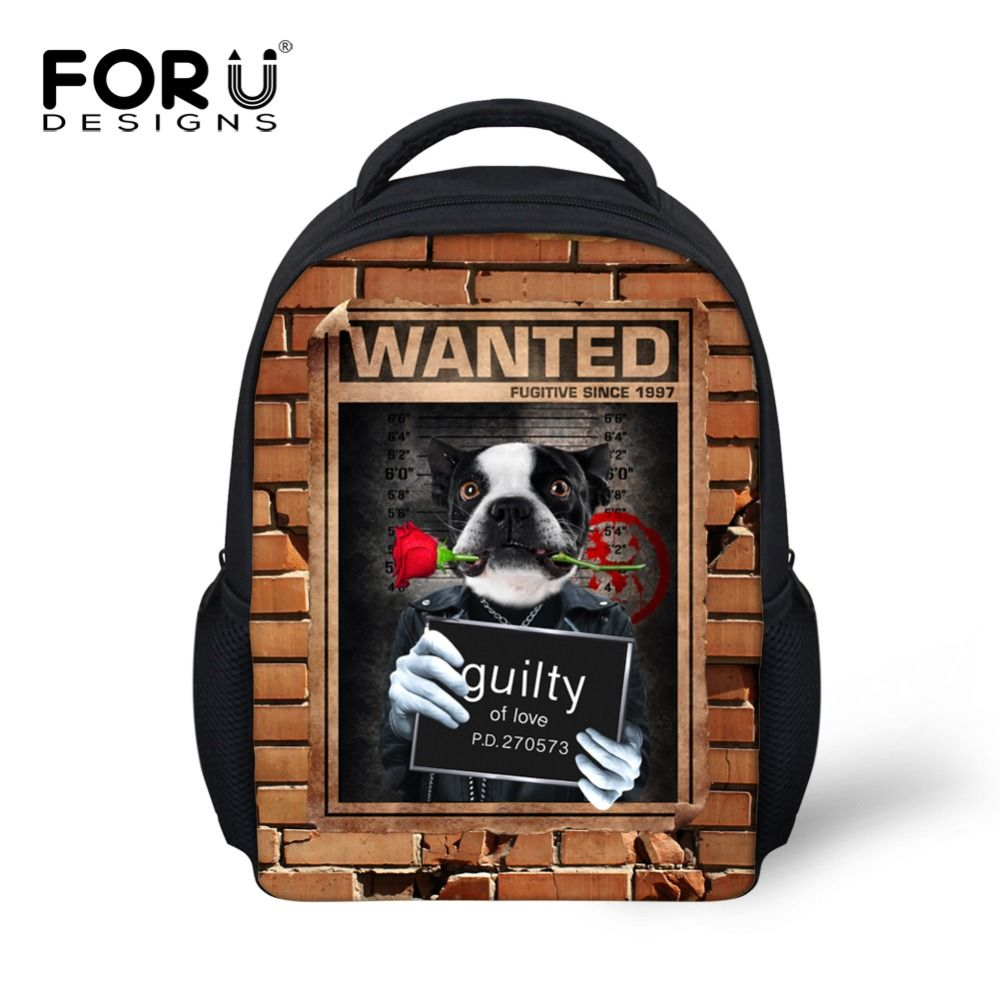 0ee89e2bb73c Cute Pet Dog Cat Print School Bags for Girl Children Panda 3D Animals  Schoolbags Classical Baby. Children s ...