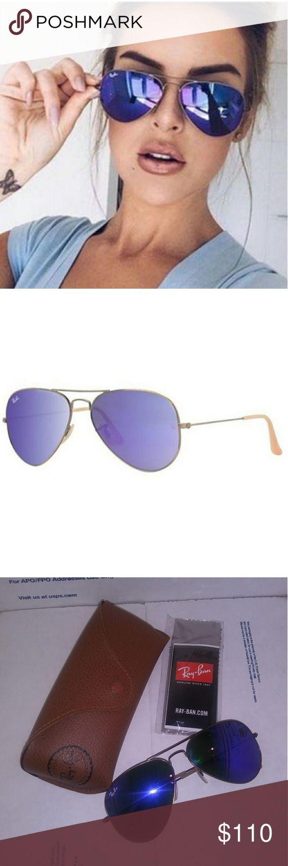 New Ray Ban Large Aviators Violet Lunettes de soleil neuves sans étiquette. Super mignon violet