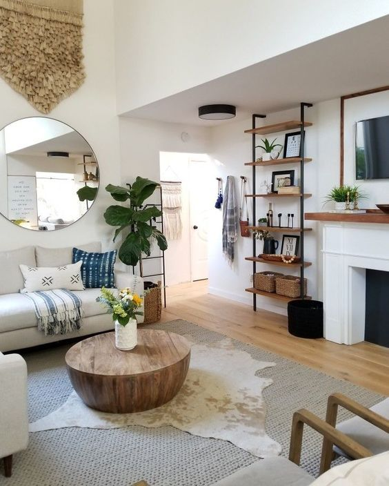 60+ Simple But Smart Shelves Decorations for Living Room Storage Ideas images