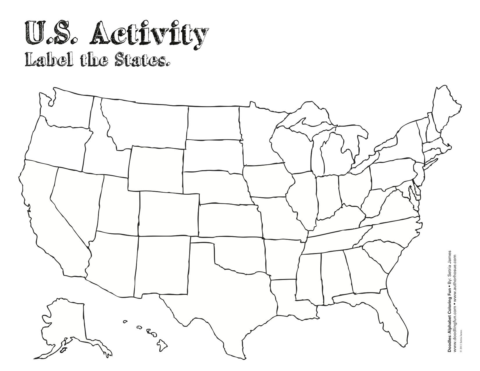 US Coloring Map Free Maps Social Studies And Activities - Blank us map for coloring