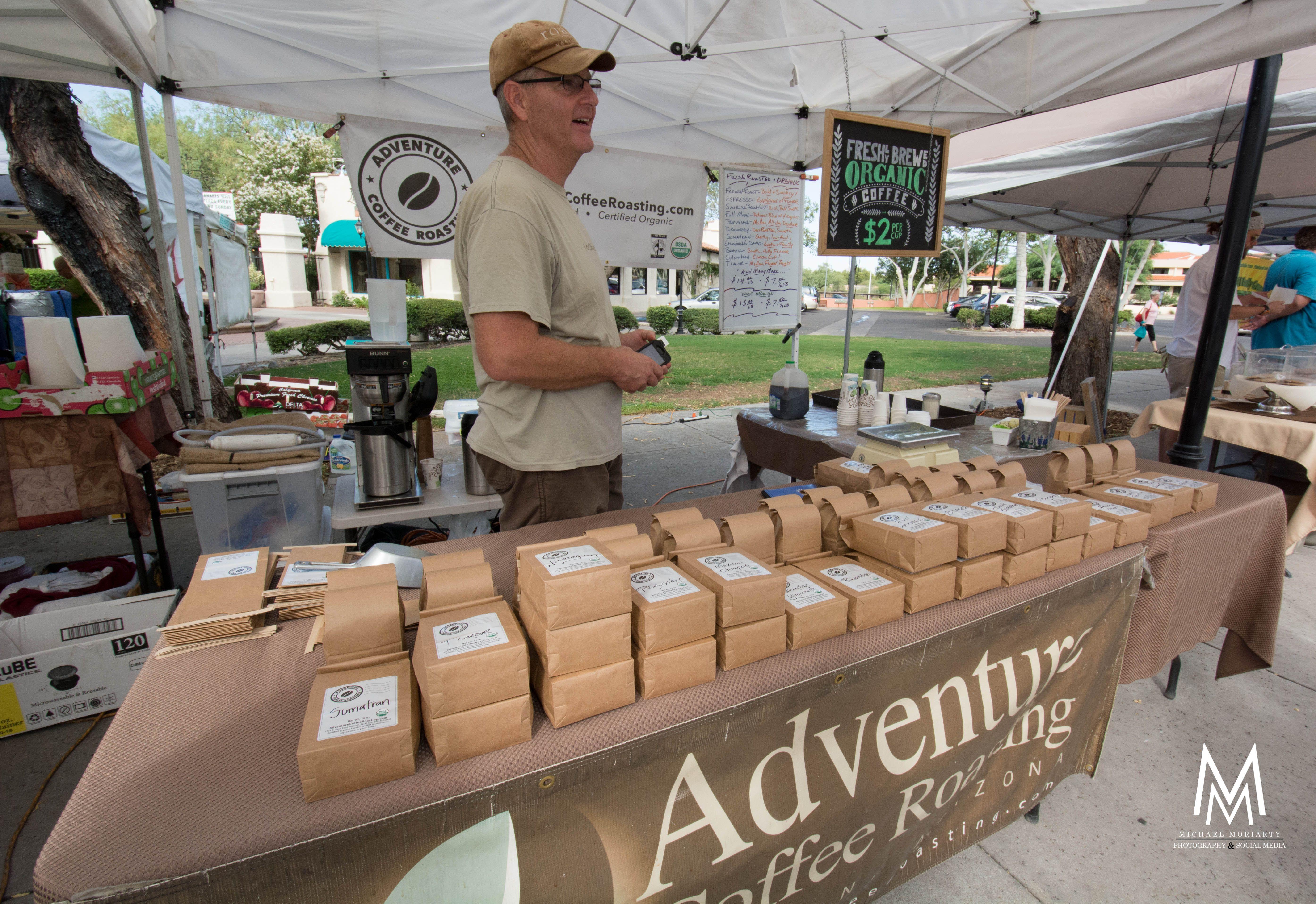 Adventure roaster coffee st philips plaza farmers market