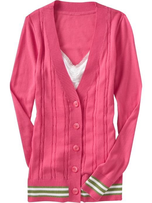 Women s Clothes Women s Tipped Cardigans Sweaters Old Navy ...